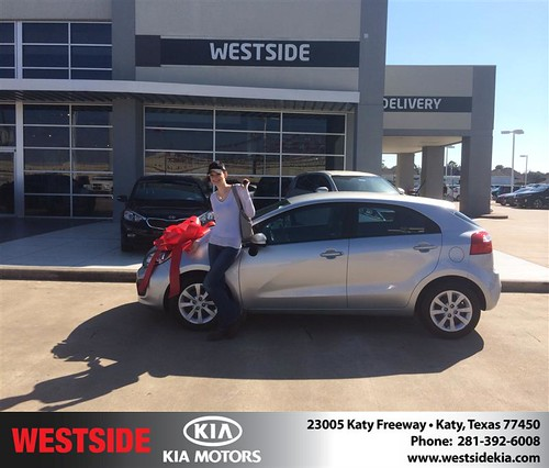 Thank you to Je Asocia Girndt on your new 2013 #Kia #Rio from Orlando Baez and everyone at Westside Kia! #NewCarSmell by Westside KIA