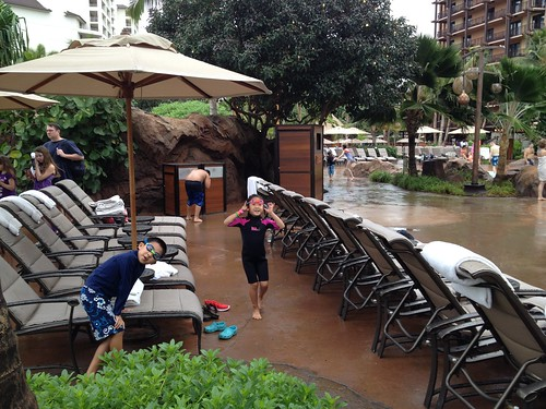 Rainy day at Aulani
