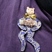Beaded cat pin doll