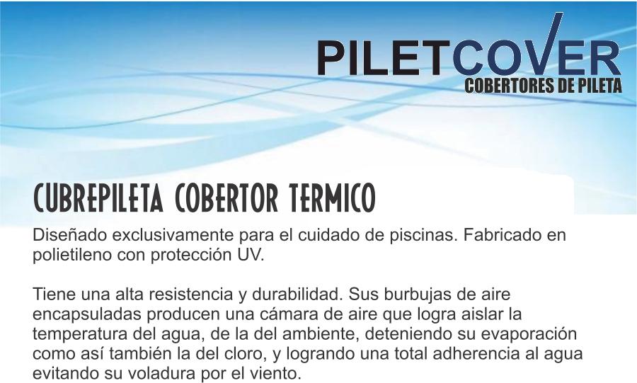 Cobertor cubre pileta termico tricapa piletcover 47 0 for Cubre piletas precios