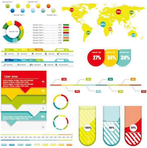 15922-economy-infographics-design-elements-vector-graphic-03