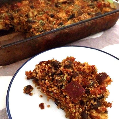 Mexican Quinoa & Sweet Potato Casserole