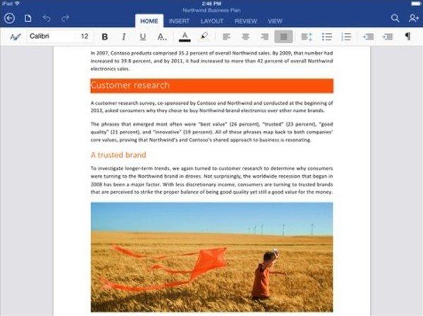 Word для iPad