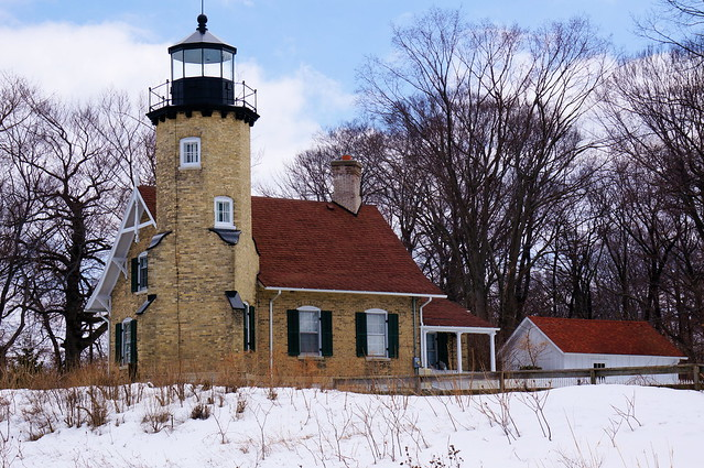 White River Light Station in winter