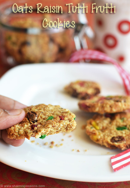 Oats Raisin Tutti Frutti Cookies