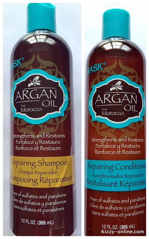 Hask Argan Oil Repairing Shampoo and Conditioner hair care routine