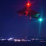 X 47b At Night The XB-47 conducts a n...