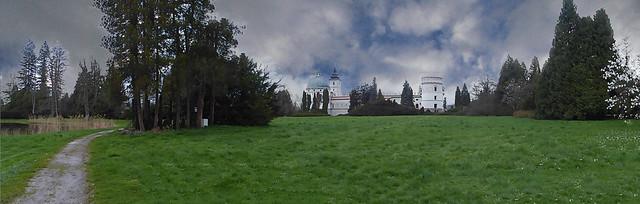 Panorama Palace magnate - Sapieha in Krasiczyn, near Przemysl