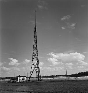 Radio station in Joensuu, building and mast, 1938.