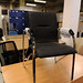 Chrome frame armchair
