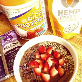Strawberry Acai Protein Bowl