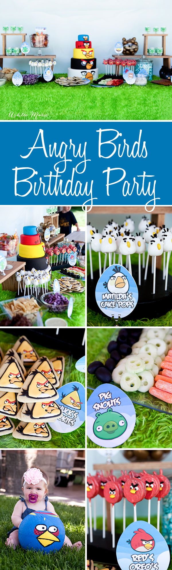 a fun angry birds birthday party - themed food, cake and activities