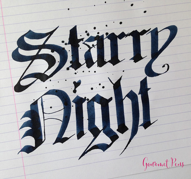 Ink Shot Review Noodler's Van Gogh Starry Night Ink Review @CarolLuxury (6)