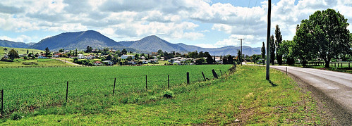 road country town farm jeffc aussiejeff killarney qld queensland australia pano mount hill cloud