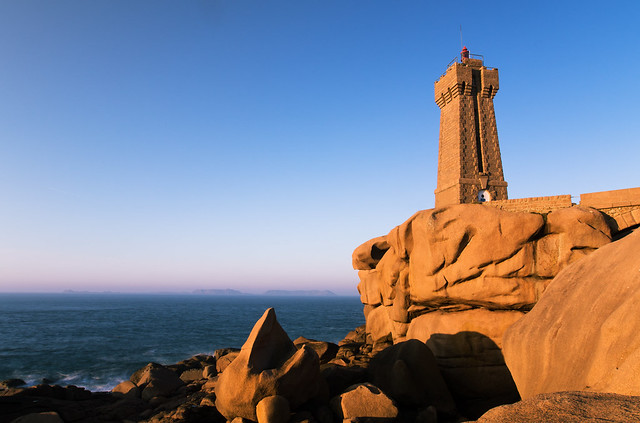 Sunset on Mean Ruz Lighthouse, Ploumanac'h