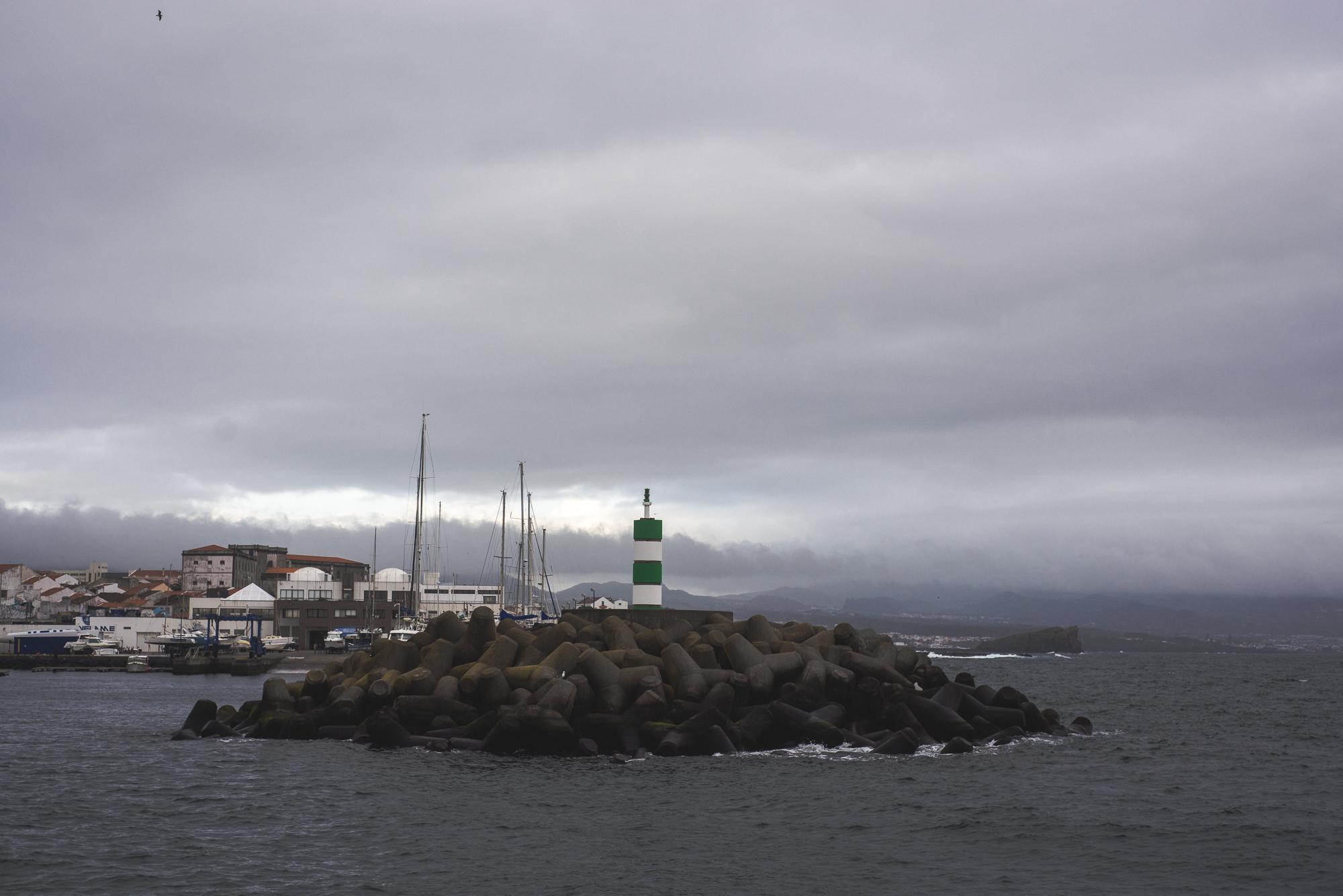 Ponta Delgada kikötő.