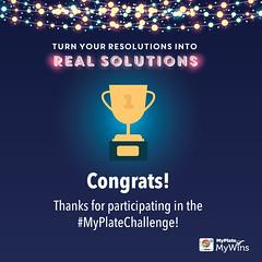 MyPlate Challenge Participation graphic