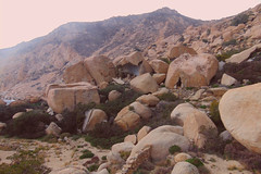 A day at an exhibition 398. Hard hiking, wild swimming and admiring rocks scuptured by nature in Cape Papas, Ikaria