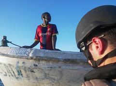 Somali fishermar is interviewed by GLC´s BP
