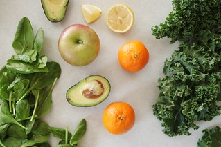 Photo:green smoothie ingredients By:Stacy Spensley