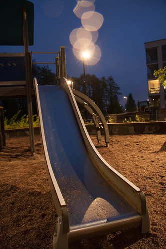 Playground in the night
