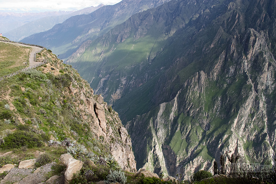 Our first glimpses over the edge and into the impressive Colca Canyon.