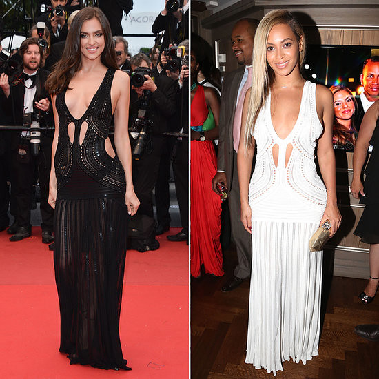 WHO WORE IT BETTER: BEYONCE OR IRINA IN ROBERTO CAVALLI GOWN