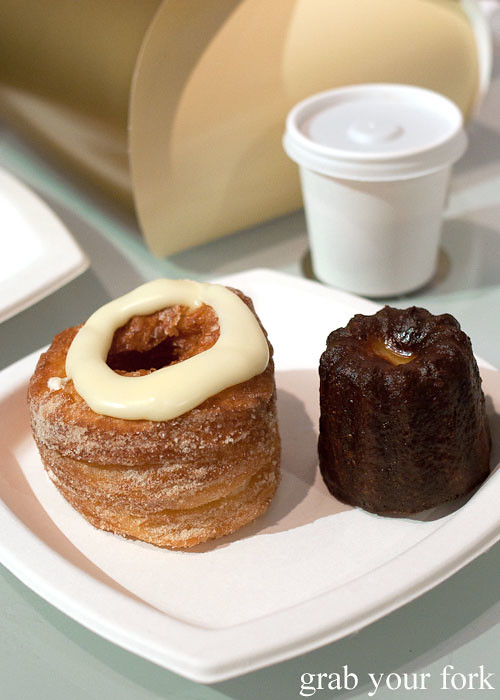 cronut and cannele de bourdeaux at dominique ansel bakery nyc new york