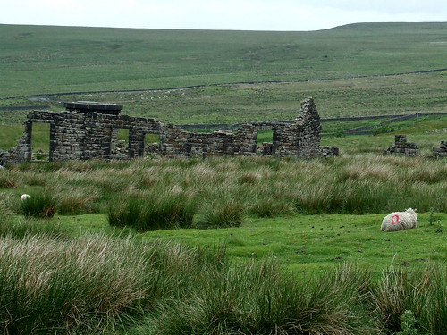 landscape with ruined farmhouse