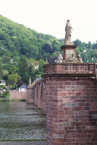 statue on the bridge of Heidelberg