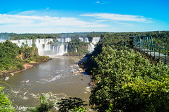Abseiling spot in the Iguacu Canyon.