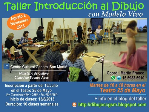 2do. cuatrimestre 2013 - Taller Introducción al Dibujo con modelo vivo - by dibujoccgsm