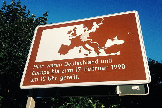 this is what you see when you are entering Berlin from Brandenburg
