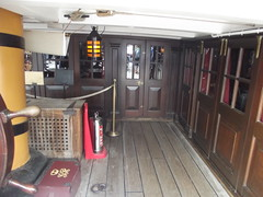 HMS Victory - Portsmouth Historic Dockyard - Quarter Deck - cabins - Captain's Quarters and Master's Cabin