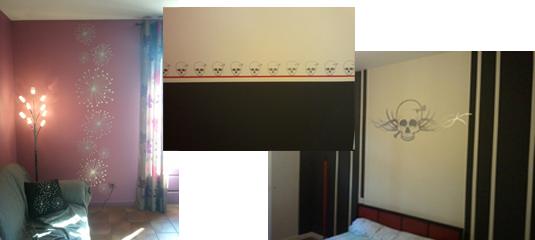Fabrication et conception de stickers originaux pour la décoration d'une maison. En collaboration avec Décor'In.