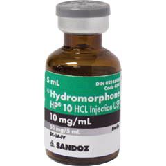 hydromorphone iv 10mg 5ml vial Sandoz