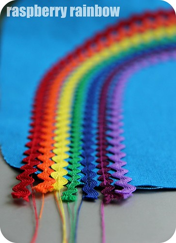 Rainbow threads.