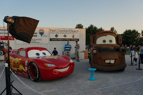 Lightning McQueen & Mater  at the 66 Drive-in, Route 66 - Carthage, Missouri