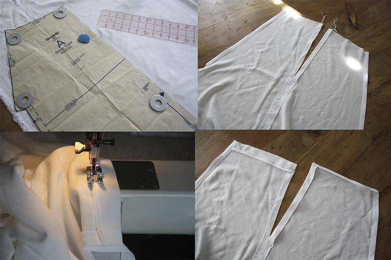 sewing saturday - shibori halter dress
