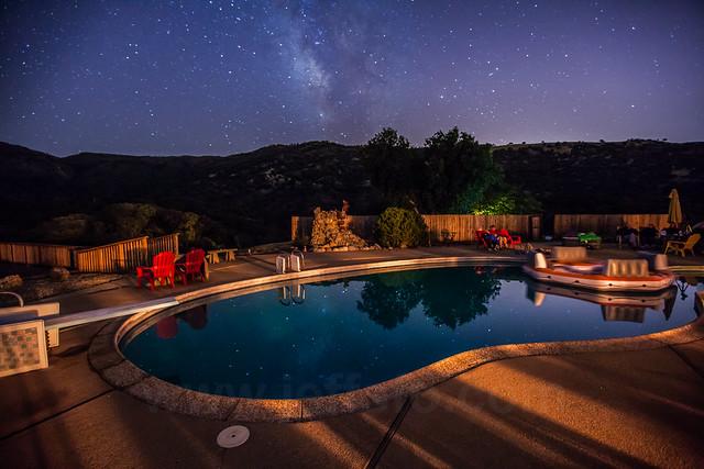Galaxy in a pool