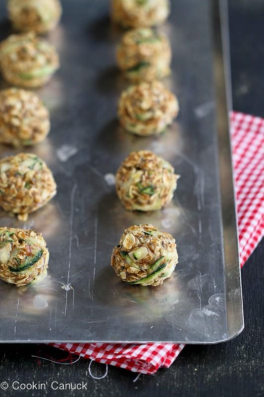 No-Bake Zucchini Bread Granola Bites Recipe {Gluten-Free & Vegan} | cookincanuck.com #recipe #zucchini