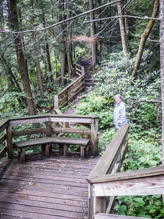 Laura on Hills Creek Falls Boardwalk