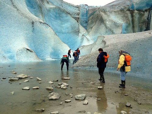 We all got our feet wet on the walk into Davidson Glacier. It was totally worth it.
