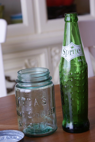 vintage jar and bottle by Digital Heather