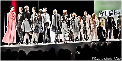 Defilee der Models beim 2.Catwalk der Bielefelder Ateliers