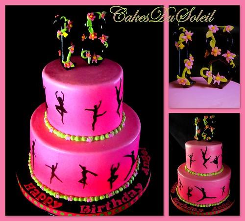 Dance Glo Cake