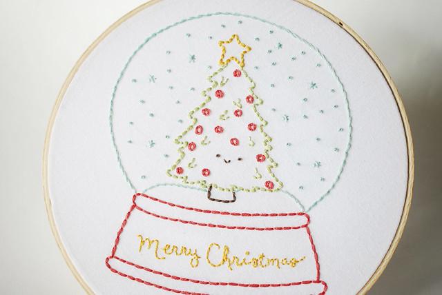 Kitschy Christmas Snow Globe Pattern