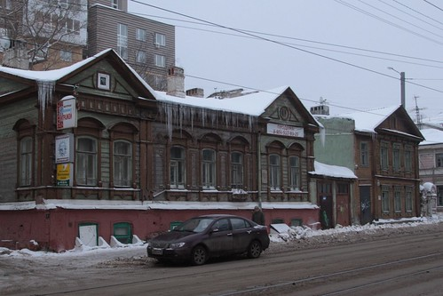 More timber buildings in Nizhny Novgorod's old town area