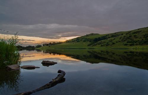 ireland sunset lake driftwood limerick loughgur