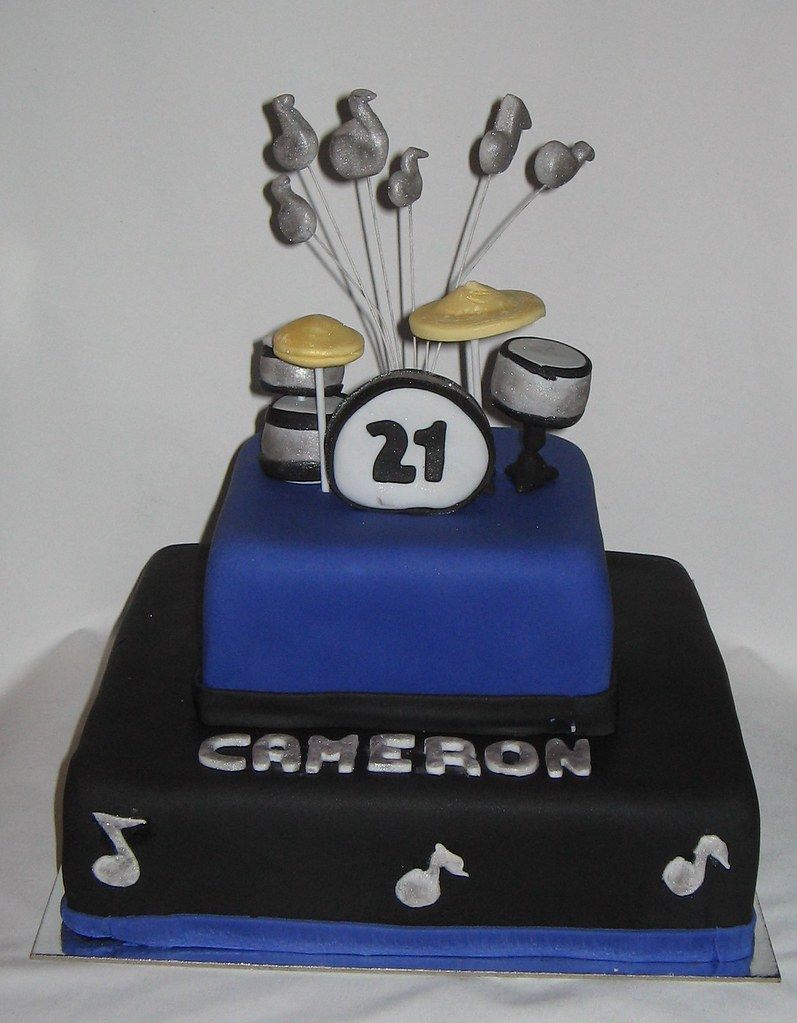 Drum Kit 21st Birthday Cake